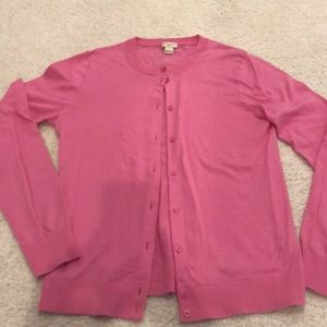 J Crew got pink cotton cardigan